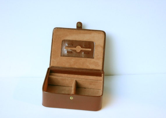 Brown Leather Travel Case or Jewelry Case For Men