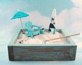 RESERVED FOR ELENA miniature zen beach garden kit