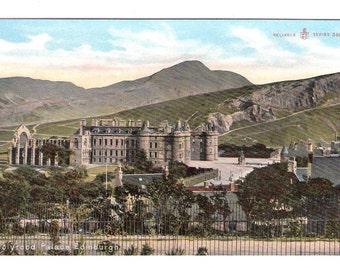 a Holyrood Palace Castle Scotland vintage postcard Scottish