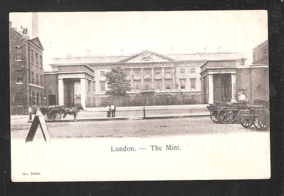 London England The Mint money related antique English vintage postcard
