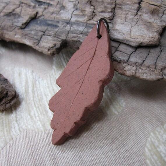 Terracotta Oak Leaf Pendant
