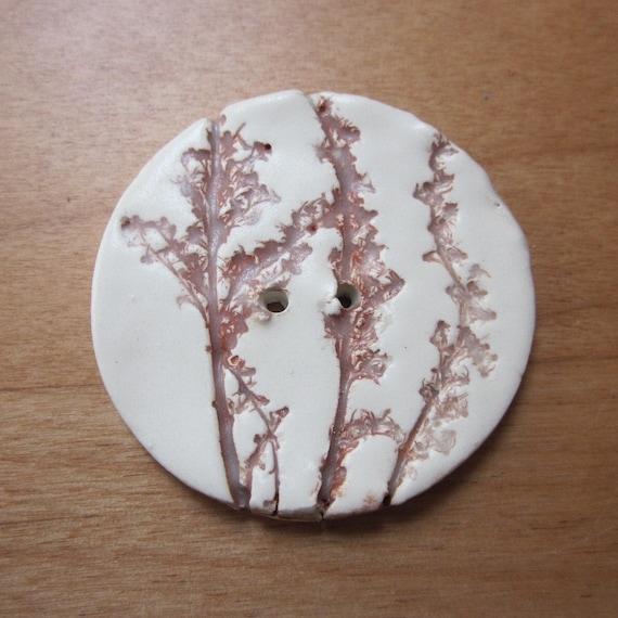 Seedhead Texture Stripe Ceramic Button