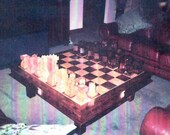 Chess Set Custom Handmade Coffee Table Chess Set on etsy  custom chess sets, custom chess pieces, and custom chess boards