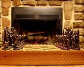 Chess Set handmade on etsy by Dianna Baker and Jim Arnold  custom chess set artist