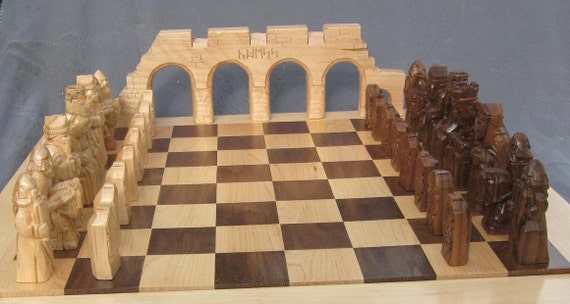 Chess Set Isle of Lewis Chess Set  etsy hand carved chess set chess pieces chess board