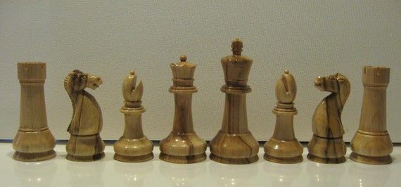 Chess Set Handmade Staunton Chess Pieces on etsy custom  chess pieces  chess boards
