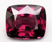 Unusual Merlot Colored Purple Spinel Faceted Cushion 9 x 7 MM  2.32 Carat New from Tanzania