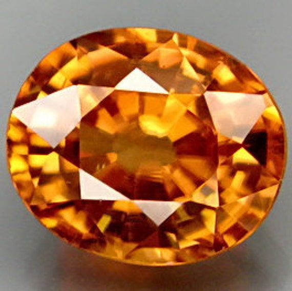 Reserved For Kathleen Rare Honey Orange Zircon Faceted Cushion 9 x 8 MM 3.50 Ct Gem Natural Newest Find