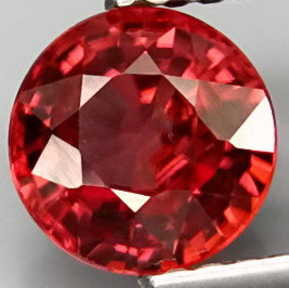 Reserved for Cee Brilliant Peachy Pink Zircon Faceted Round 6.5 x 6.5 MM 1.60 Ct Gem Natural Unheated
