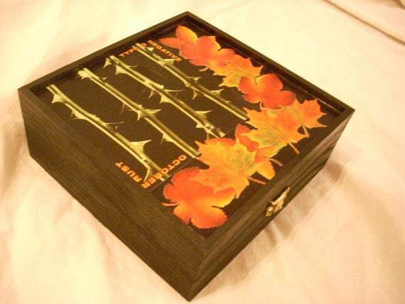 RESERVED For Darlene Type O Negative October Rust Keepsake Trinket Box