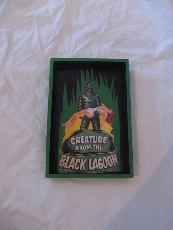Creature From The Black Lagoon Shadow Box Wall Art