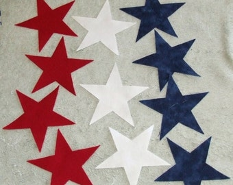 """2"""" FUSIBLE Star Appliques for Quilt or other Craft Projects"""