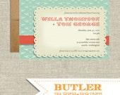 Vintage Mustache Printable Invitation
