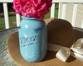 Quart Distressed Mason Jar
