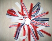 Red,White and Blue Ponytail Hair Tie