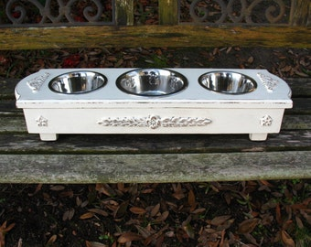 Dog Bowl Feeder, Tori Spelling's Blog, Dog Bowl Feeder, Elevated Feeder, Dog Dish, Pet Bowl, Pet Feeder, Three Bowls, Made To Order