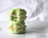 MOJITO Cookie Sandwiches, Homemade Cookies, Food, Cake, Summer Parties, St Patricks Day, 1/2 Dozen (6) by Ploctopia