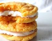 ORANGE Cookie Sandwiches, Homemade Cookies, Food, Cake, Summer Fun, 1/2 Dozen (6) by Ploctopia