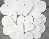 Wholesale Heart Supplies Collection of 100 Mini Hearts Unfinished Salt Dough Ornaments