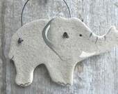 Elephant Salt Dough Ornament / Kitchen Decor