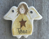 Angel Salt Dough Christmas Ornament / Peace Angel