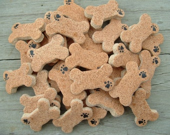 Dog Bone Mini Non Edible Salt Dough Ornaments Group of eighteen (18) Finished Minis