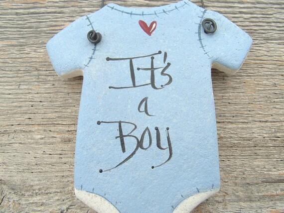 Baby Onesie Salt Dough Ornament / Baby Shower / Party Favor Gift Salt Dough Ornament