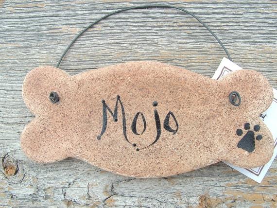 Dog Bone Salt Dough Ornament Free Personalization