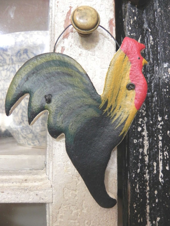 Rooster Salt Dough Ornament Kitchen Decor Gift Idea
