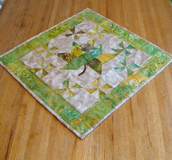 Quilted Table Topper, Little Leaf SALE