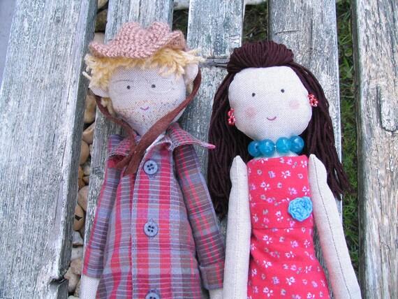 Wedding rag dolls, custom personalized rag dolls, bride and groom rag dolls, just married dolls, dolls made from photo, wedding couple dolls