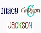 INSTANT DOWNLOAD -- Embroidery Font Triple Pack --- Pharmacy, Carson and Jackson - Machine Embroidery Fonts Alphabets