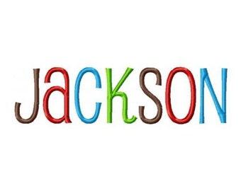 INSTANT DOWNLOAD -- Machine Embroidery Fon Jackson -t - Monogram Alphabet Design