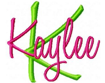 INSTANT DOWNLOAD -- Machine Embroidery Font Kaylee --  Monogram Alphabet Letters