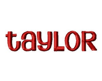 INSTANT DOWNLOAD -- Machine Embroidery Font Taylor  -- Great for Monogramming/Applique / Embroidery Projects
