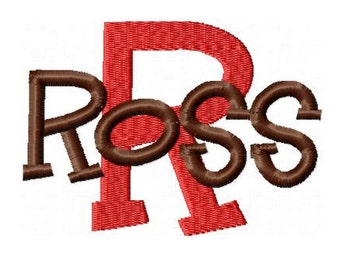 INSTANT DOWNLOAD -- Machine Embroidery Font Ross -- Monogram Alphabet Design