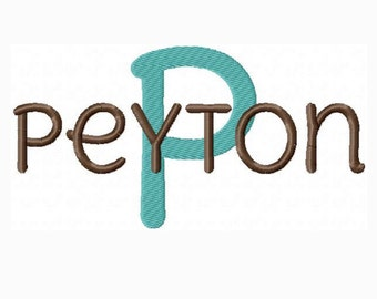 INSTANT DOWNLOAD - Machine Embroidery Font Peyton