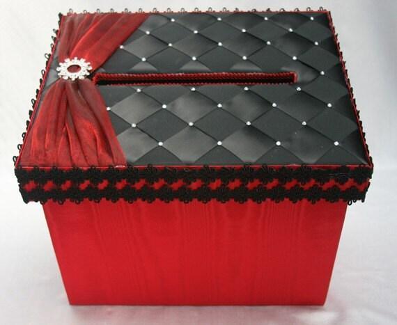 Personalize Wedding Card Box Money Box Gift Card Box – Red Wedding Card Box