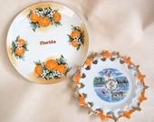 Charming Old Florida Vintage Souvenir Plates...A Little Slice of Sunshine...