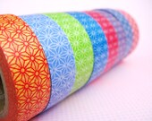 Diamond Flower Japanese Washi Tape- One Whole Roll - Your Choice of Colors