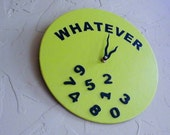 Teen Novelty Wall Clock Vintage LP Kid's Apple Lime Green College Student Dormitory