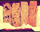 6 pack Doggy Peanut Butter Granola Bars - Carob - Blueberry - Cranberry - Cinnamon Honey - or Assorted Flavor Pack