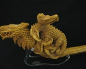 Dragon Family 2 Headed Eagle & Dragon Meerschaum Pipe Child Collectible Vintage Smoking Meerschaum Pipes Hand Made
