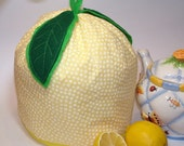 SALE - Teapot Cozy - Lemon - Free shipping on Additional Items