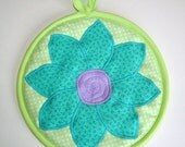 SALE - Potholder - Flower - Free shipping on Additional Items