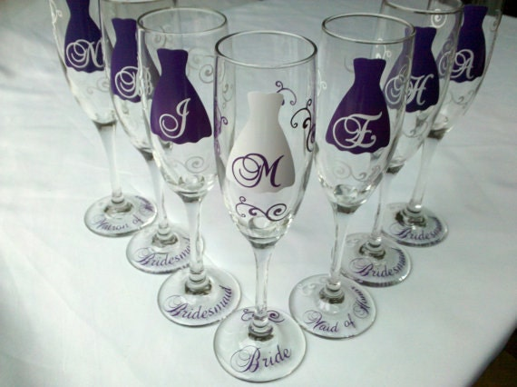 Custom listing for laurenhillebrand, 6 flutes.  1 month plus shipping.