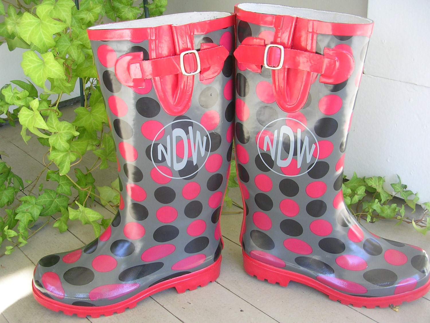 rain boot decals personalized vinyl monogram by waterfalldesigns