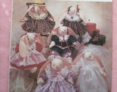 "Bunny Pattern - 14"" Tall - Six Outfits including Bridal Gown - Simplicity Pattern by Faith Van Zanten"