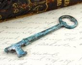 Vintage Skeleton Key With Applied Patina Finish