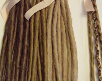 20 SE Single Ended Synthetic Dreads Light Medium Blonde Brown Dreadlock Braid Hair Extension Custom